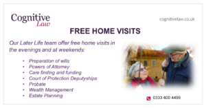 Home visits for later life legal advice
